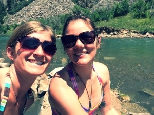 Just another sunny day at the natural hot springs on the edge of a river looking out at the Maroon Bells and other nearby mountains.  NBD.