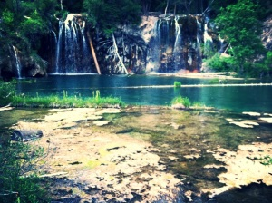 Yep, that's Hanging Lake.  So gorgeous it doesn't really even look real.