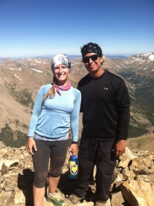 We spent approximately long enough to take this picture on the summit-it was crowded.