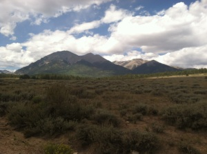 No filter.  Looking back on Shav and Tab on my way to Antero