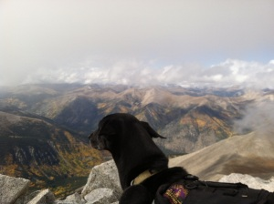 then, it looked more like this.  Taken from my THRONE atop Mt. Antero while I snacked gloriously on trail mix.