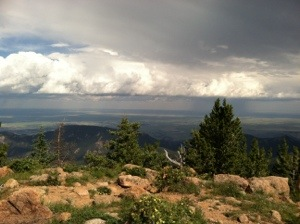 this is the only picture I took during the Pike's Peak Ultra, from the summit of Mt. Rosa