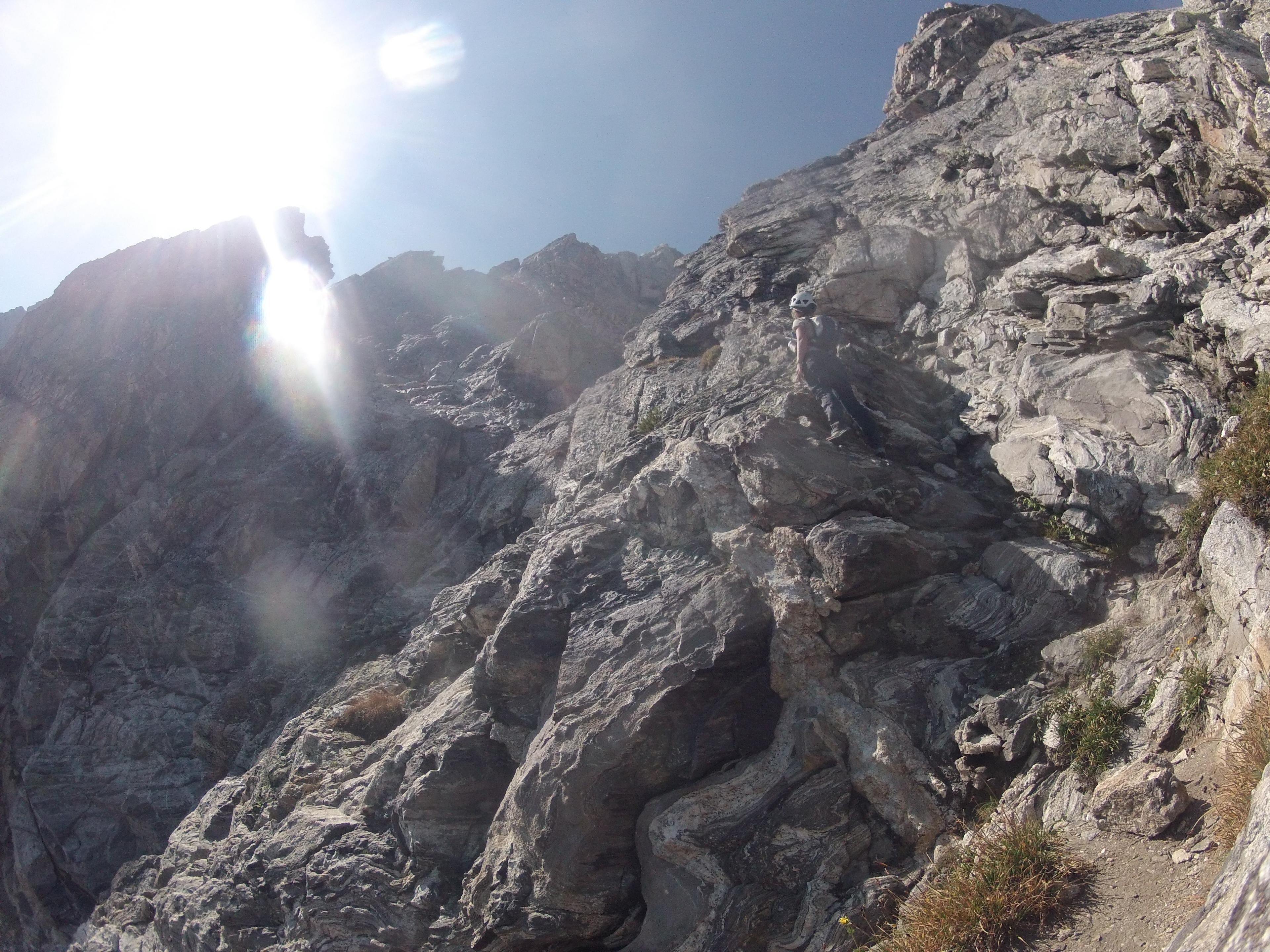 Climbing on Teewinot.JPG
